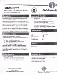 Disinfectant Cleaners And Germicidal Janice Sales Company